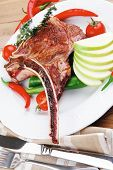 stock photo of baby back ribs  - meat food  - JPG