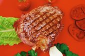 foto of red meat  - barbecued meat  - JPG