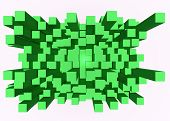 foto of three-dimensional-shape  - Illustration of abstract mosaic three - JPG