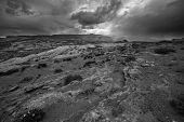 stock photo of rain cloud  - Rain Storm Clouds building up over the Desert Utah Landscape - JPG