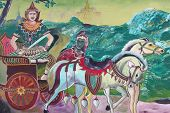 Buddhist Art Painting On Wall Of Temple