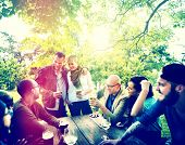 picture of joy  - Friend Celebrate Party Picnic Joyful Lifestyle Drinking Concept - JPG