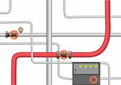 Crossing pipes system