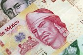 Mexican One Hundred Peso Plastic Bill