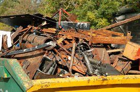 pic of scrap-iron  - Scrap metal iron - JPG