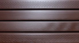picture of soffit  - The background of the brown plastic siding - JPG