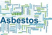 Word cloud concept illustration of  asbestos hazard