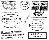 Zeppelin Related Postmarks
