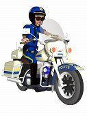 Toon Police Officer
