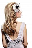 Retro Bride With Open Back Dress