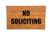 Doormat With No Soliciting Text
