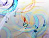Computer Illustration Music Abstract Background