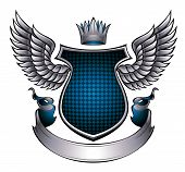 Classic style emblem with wings.
