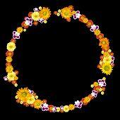 medio ambiente decorativo y símbolo del reciclaje de las flores de color