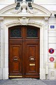 foto of front door  - Art Deco door with bronze handles in Paris - JPG