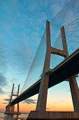 Vasco da Gama Bridge en Lisboa, Portugal