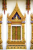 Thai Buddhist Temple Window