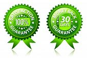 Satisfaction and money back guarantee green labels