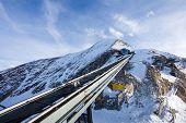 Funicular Trail Going To Kitzsteinhorn Peak