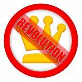 Revolution road sign