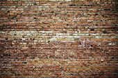 picture of brick block  - old brick wall texture - JPG