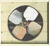 picture of air conditioning  - Fan Unit Of Air Condition With Grill - JPG