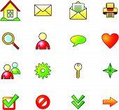 Summer Basic Web Icons Set poster