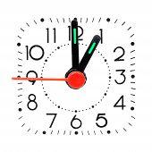 Relógio mostrando 01