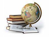 Books Globe And Glasses