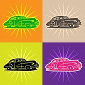 Vector cars - retro