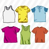 six colorful t-shirts