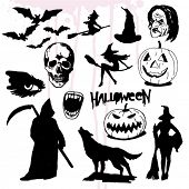picture of wolfman  - Some Hand Drawn Halloween Elements - JPG