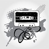Hand Drawn Audio Cassette