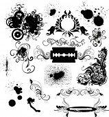 grungy vector elements
