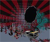 vector de gramófono de Grunge