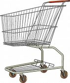 A common shopping cart. Isolated.