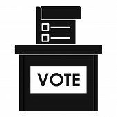 Vote Election Box Icon. Simple Illustration Of Vote Election Box Vector Icon For Web Design Isolated poster