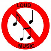 loud music forbidden