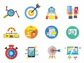 Targeting Icon Set. Targeting Users Split Test E-mail Marketing Brand Identity Marketing Analysis So poster