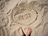 Blog Inscription On The Sand. Summer Beach Blog Concept. poster