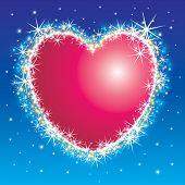 Shiny shiny star burst heart frame