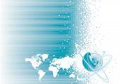Diseño de la comunicación global, ilustración vectorial capas archivo.