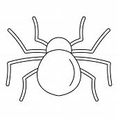 Female Mouse Spider Icon. Outline Female Mouse Spider Vector Icon For Web Design Isolated On White B poster