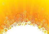 Abstract sun design, vector illustration layered.
