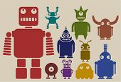 picture of animated cartoon  - a team of robots - JPG