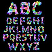 psychedelic alphabet