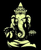 Ganesh's with his broken tusk