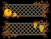 banner de abóbora e uva