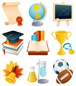 Vector illustration - Education and graduation icon set.