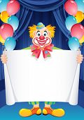 Vector illustration - ginger clown